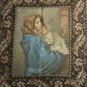 Madonna of the streets wall tapestry